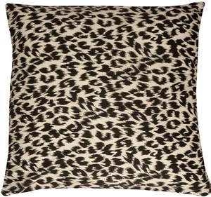 Leopard Print Cotton Large Throw Pillow