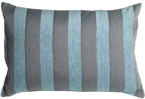 Brackendale Stripes Sea Blue Rectangular Throw Pillow