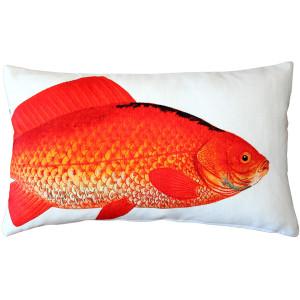 Goldfish Fish Pillow 12x19
