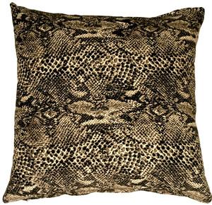 Snake Print Cotton Large Throw Pillow