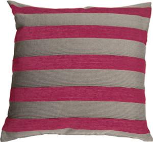 Brackendale Stripes Pink Throw Pillow