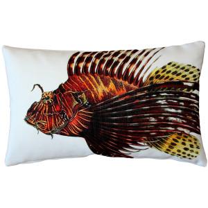 Lionfish Fish Pillow 12x19