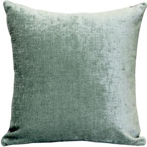 Venetian Velvet Ice Blue Throw Pillow 18x18