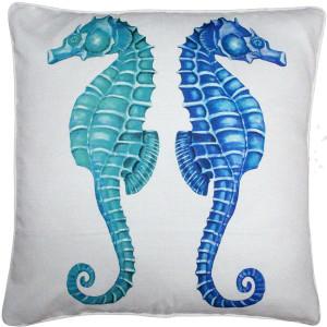 Capri Seahorse Reflect Throw Pillow 26x26