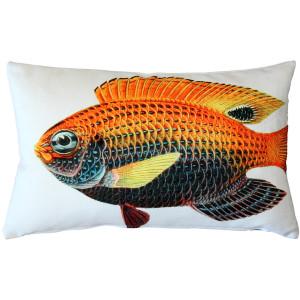 Princess Damselfish Fish Pillow 12x19