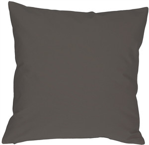 Caravan Cotton Dark Gray 20x20 Throw Pillow