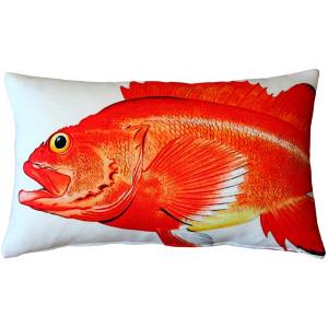 Rockfish Fish Pillow 12x19