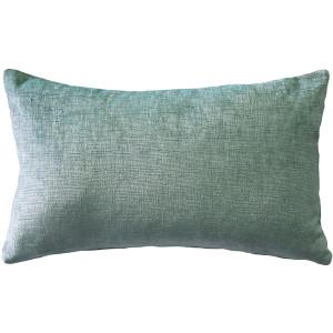 Venetian Velvet Ice Blue Throw Pillow 12x20