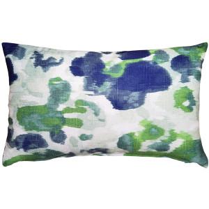 Brandy Bay Blue Floral Throw Pillow 12x19
