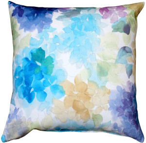May Flower Throw Blue Pillow 20X20