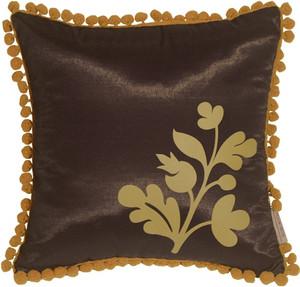 Bohemian Blossom, Brown and Ocher Throw Pillow