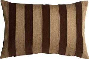Brackendale Stripes Brown Rectangular Throw Pillow