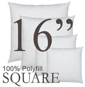 16x16 Square Polyfill Throw Pillow Insert