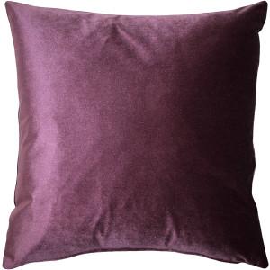 Corona Aubergine Velvet Pillow 19x19
