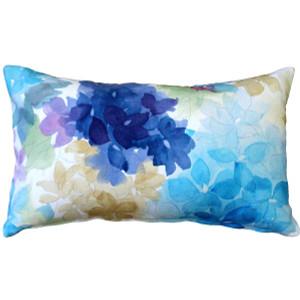 May Flower Blue Throw Pillow 12X20