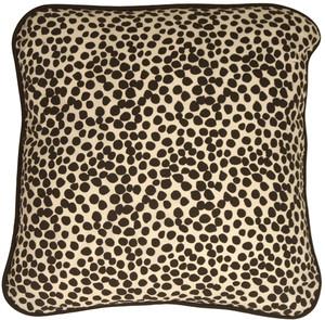 Deer Print Cotton Large Throw Pillow