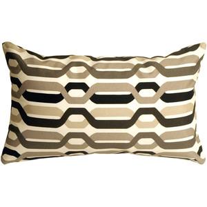 Waverly New Twist Caviar 12x20 Outdoor Pillow