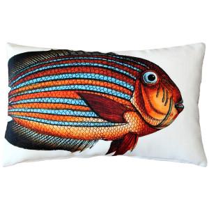 Surgeonfish Fish Pillow 12x19
