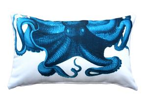 Octopus Throw Pillow 12x19