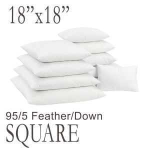 """18"""" Square Feather Down Pillow Form"""