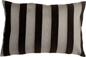 Brackendale Stripes Black Rectangular Throw Pillow