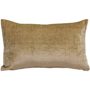 Venetian Velvet Golden Brown Throw Pillow 12x20