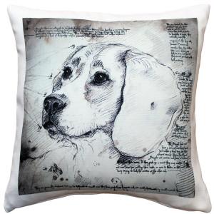Beagle 17x17 Dog Pillow