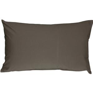 Caravan Cotton Dark Gray 12x20 Throw Pillow