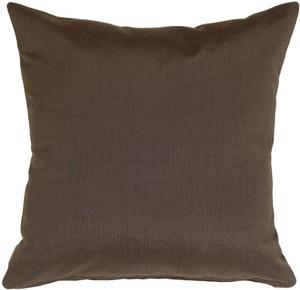 Sunbrella Coal Black 20x20 Outdoor Pillow