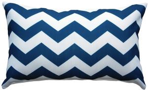 Chevron Bold Blue Throw Pillow 12x19