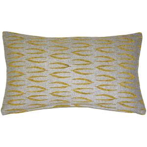 Kukamuka Eka Yellow Throw Pillow 12x19