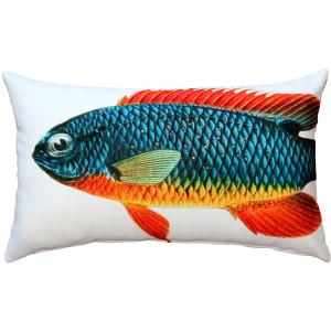 Guppy Fish Pillow 12x19