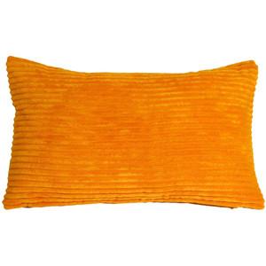 Wide Wale Corduroy 12x20 Light Orange Throw Pillow
