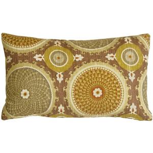 Bohemian Medallion Mulberry 12x20 Throw Pillow