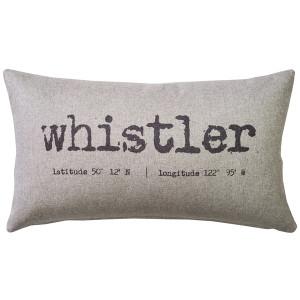 Whistler Gray Felt Coordinates Pillow 12x19