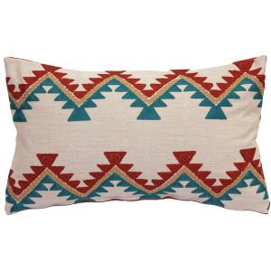 Tulum Coast Embroidered Throw Pillow 12x20