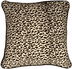 Ocelot Print Cotton Small Throw Pillow