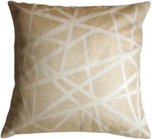 Criss Cross Stripes Cream Throw Pillow
