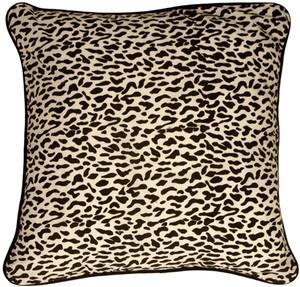 Ocelot Print Cotton Large 22x22 Throw Pillow