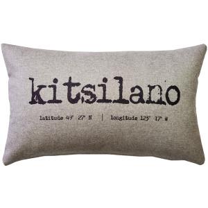 Kitsilano Gray Felt Coordinates Pillow 12x19