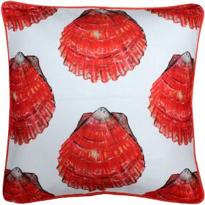 Big Island Bay Scallop Large Scale Print Throw Pillow 20x20