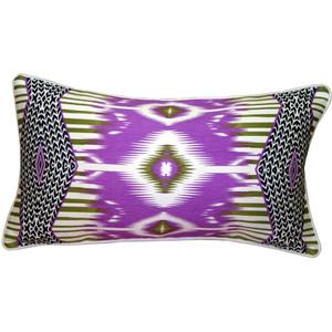 Electric Ikat Purple 15x27 Throw Pillow