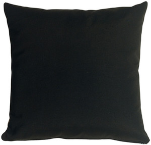 Sunbrella Black 20x20 Outdoor Pillow
