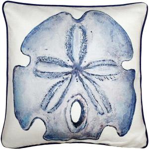 Big Island Sand Dollar Solitaire Throw Pillow 20x20