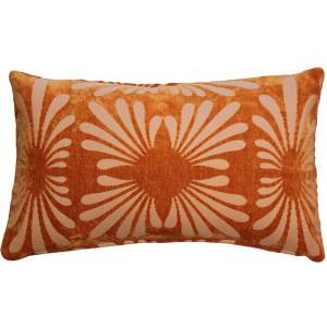 Velvet Daisy Orange 12x20 Throw Pillow