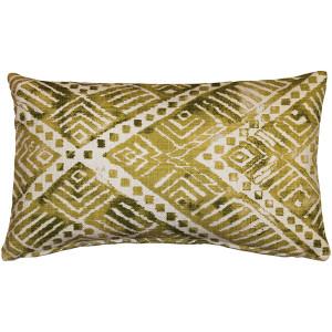 Tangga Green Throw Pillow 12X20