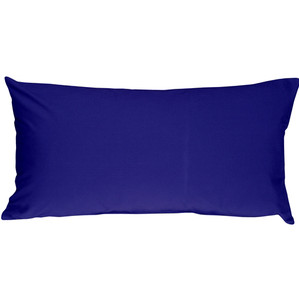 Caravan Cotton Royal Blue 9x18 Throw Pillow