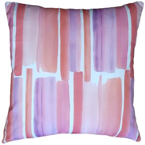 Beach Glass Blush Throw Pillow 20x20