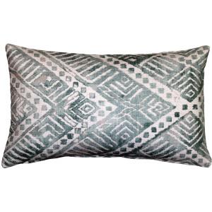Tangga Blue Throw Pillow 12X20