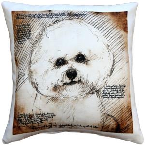 Bichon 17x17 Dog Pillow